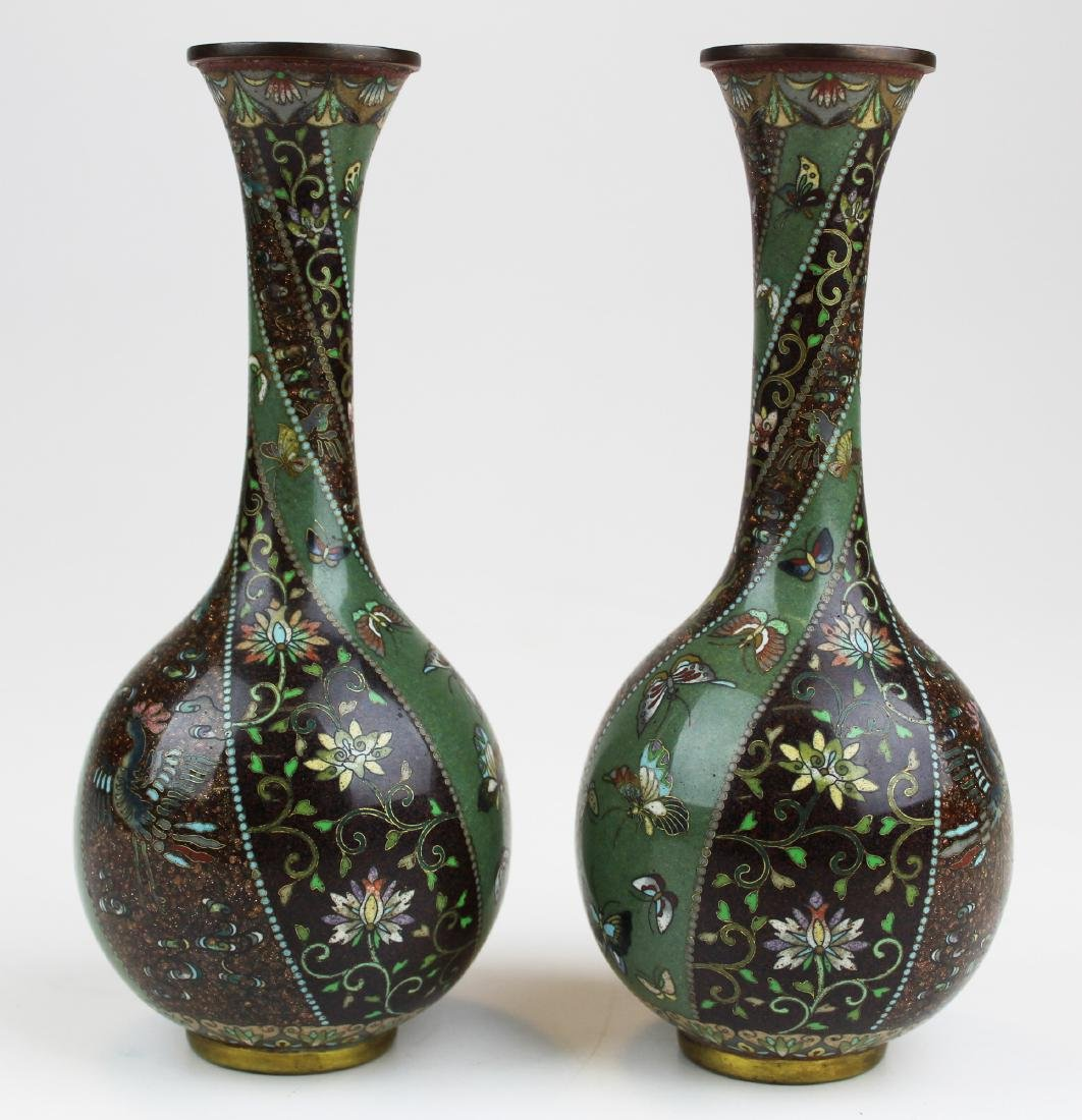 Chinese Qing dynasty cloisonné pr vases