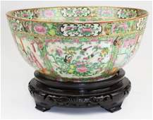 Rose medallion punch bowl