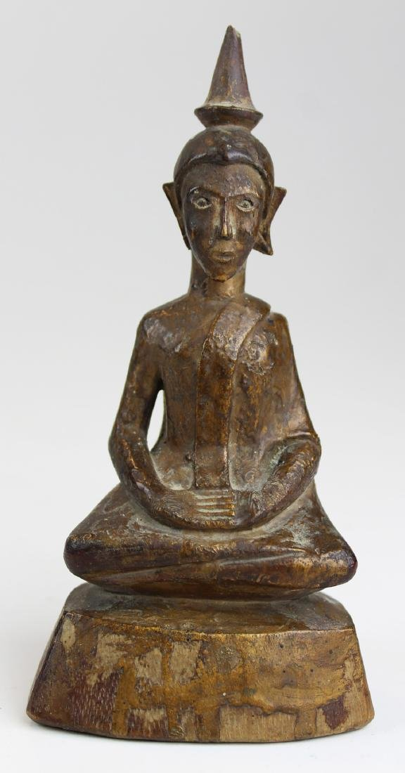 Antique southeast Asian gilt wood Buddha