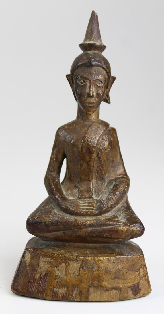 Antique southeast Asian gilt wood Buddha
