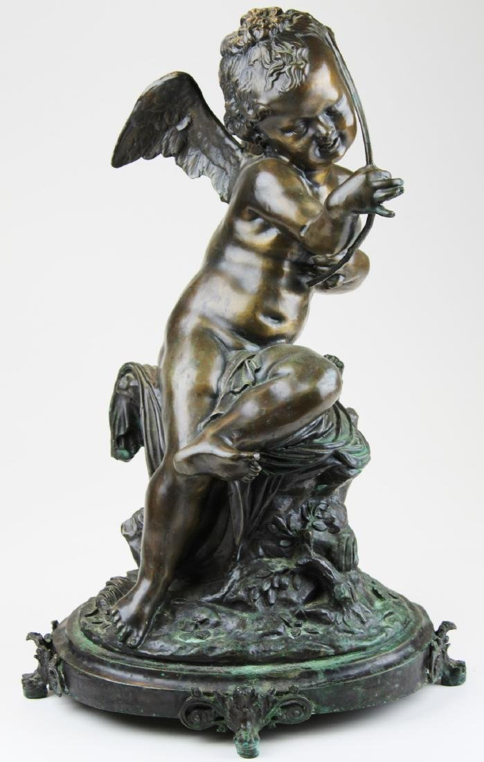 large early- mid 20th c bronze sculpture of cupid