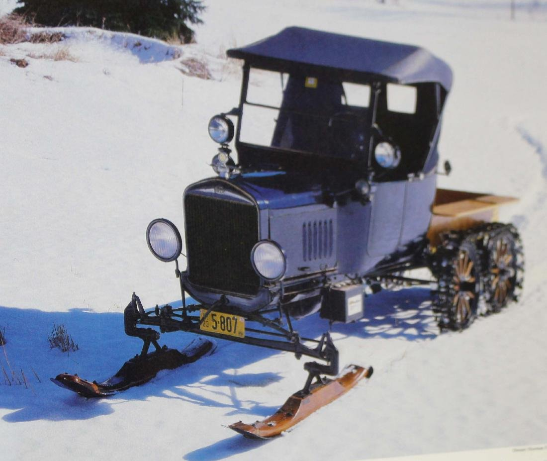 1923 Ford Model T pickup with Snowmobile Kit