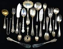 20 pcs. 19th and 20th c. sterling silver flatware