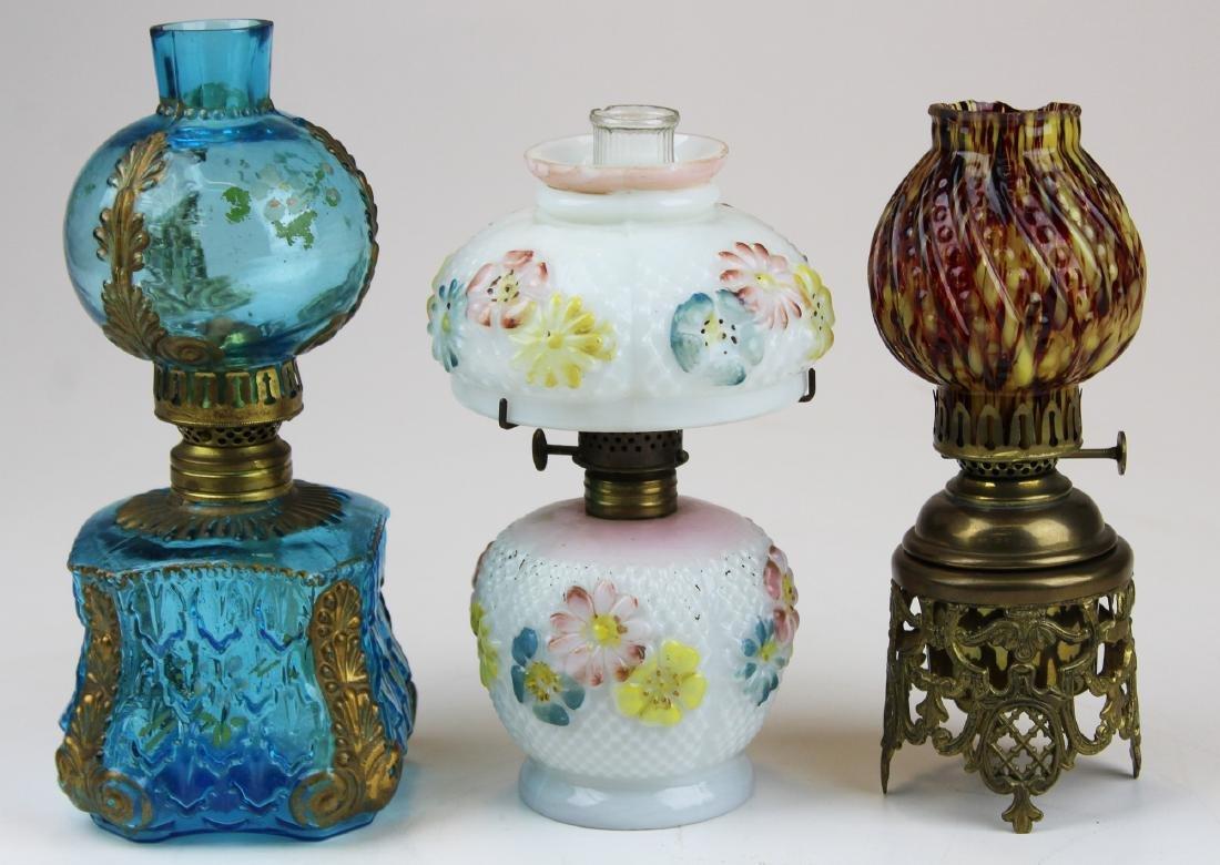 Three miniature lamps