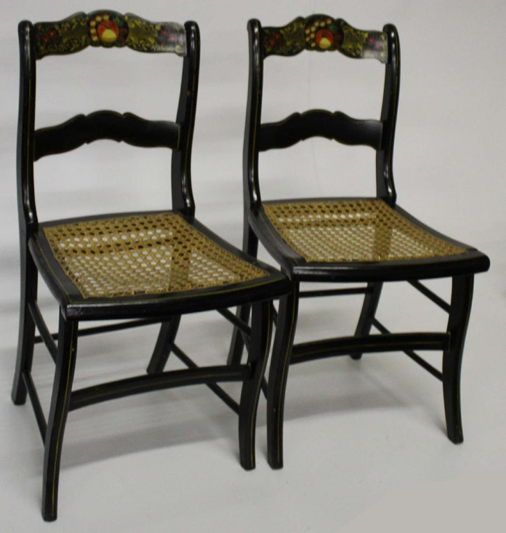 Set of 8 painted dining chairs