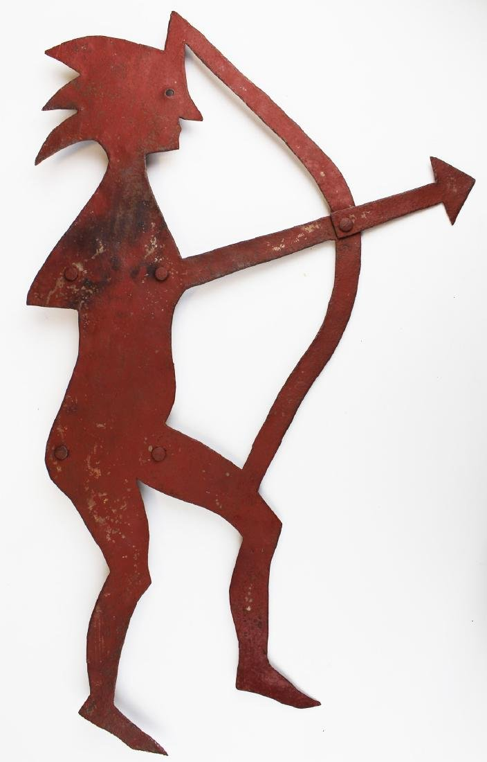 20th c sheet iron Indian weathervane