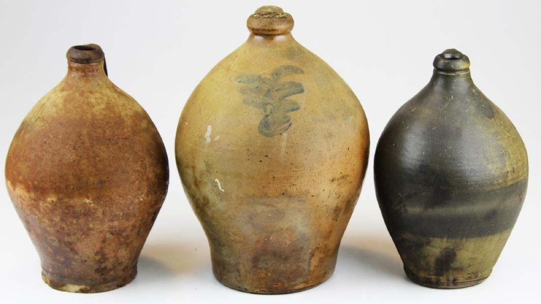 three early 19th c stoneware ovoid jugs