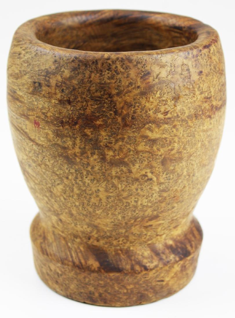 late 18th- early 19th c burl mortar