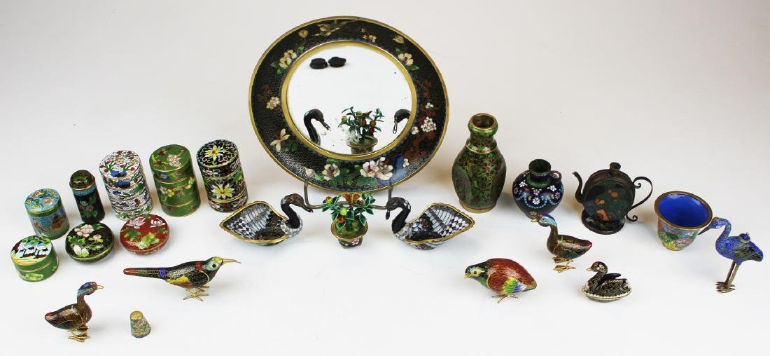 Group of Chinese cloisonné