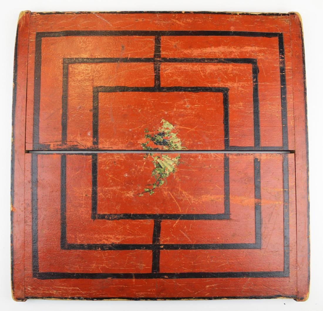 late 19th c game board in old paint