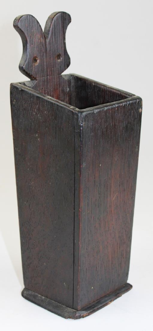 small 19th c oak pipe box