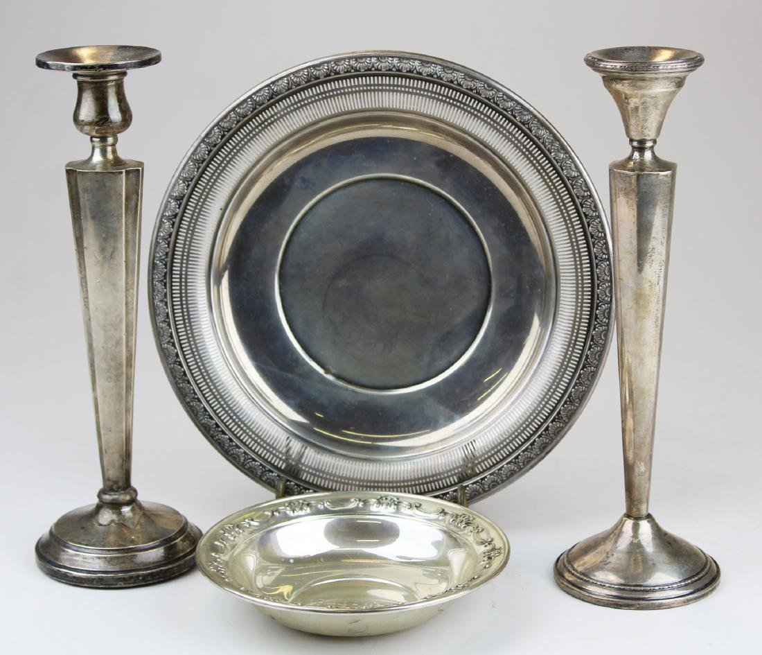 4 pcs 20th c. sterling silver tableware