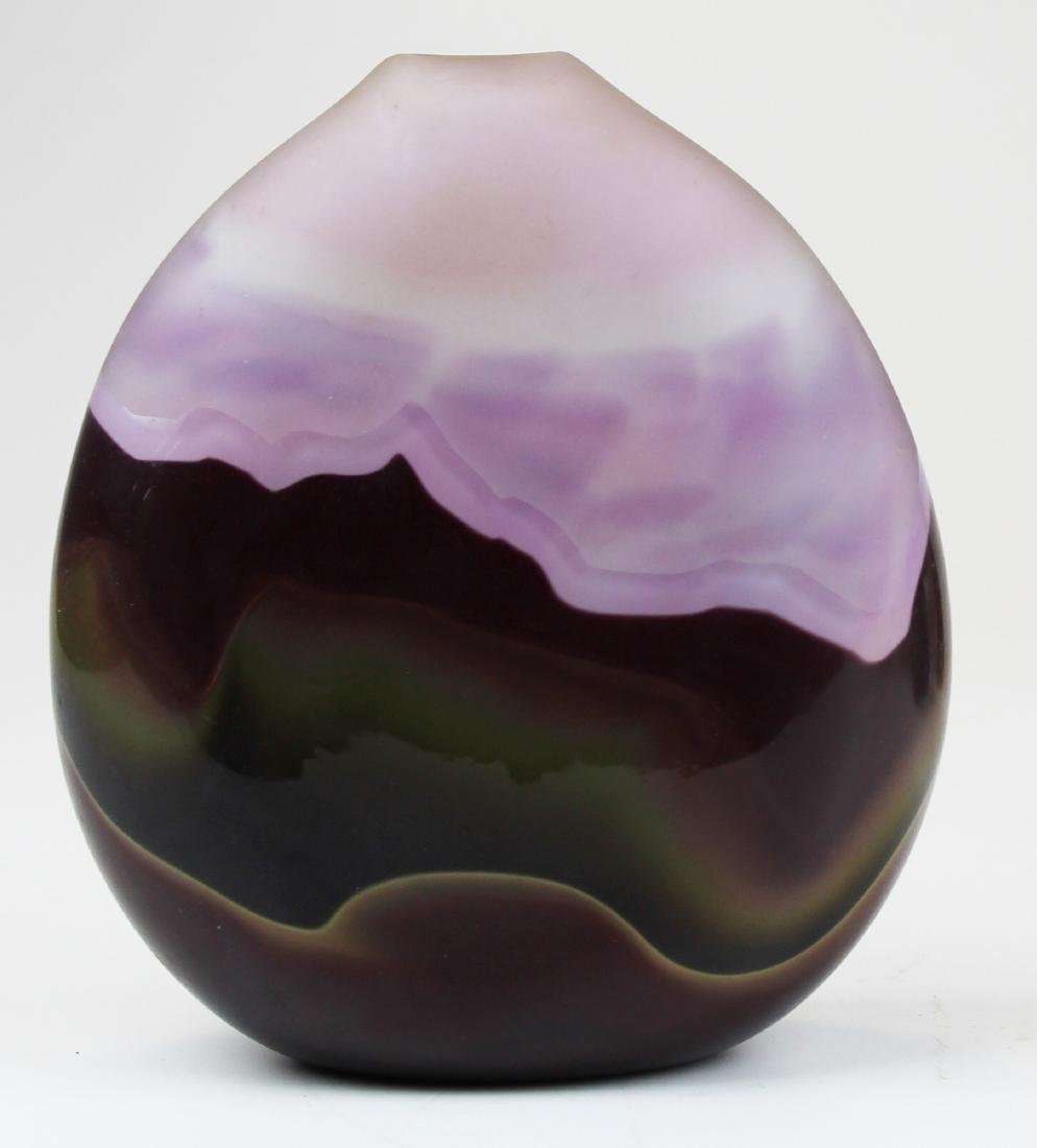 Jim & Connie Grant studio art glass vase