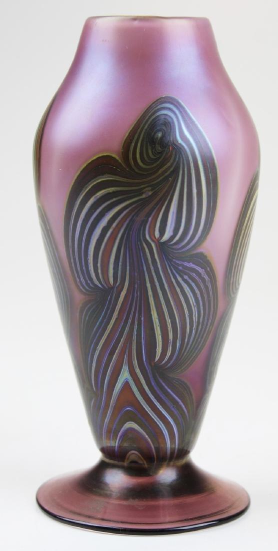 Vandermark Merritt cased studio art glass vase