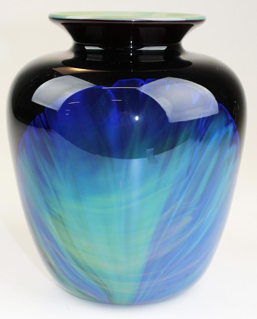 William Worcester art glass studio vase