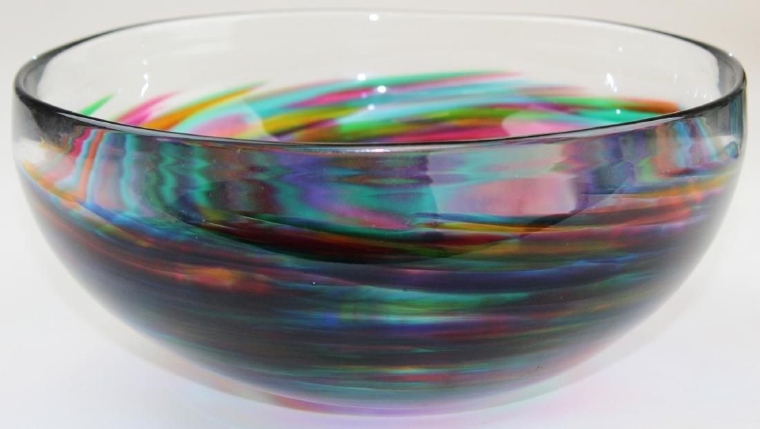 Tom Philabaum studio art glass bowl