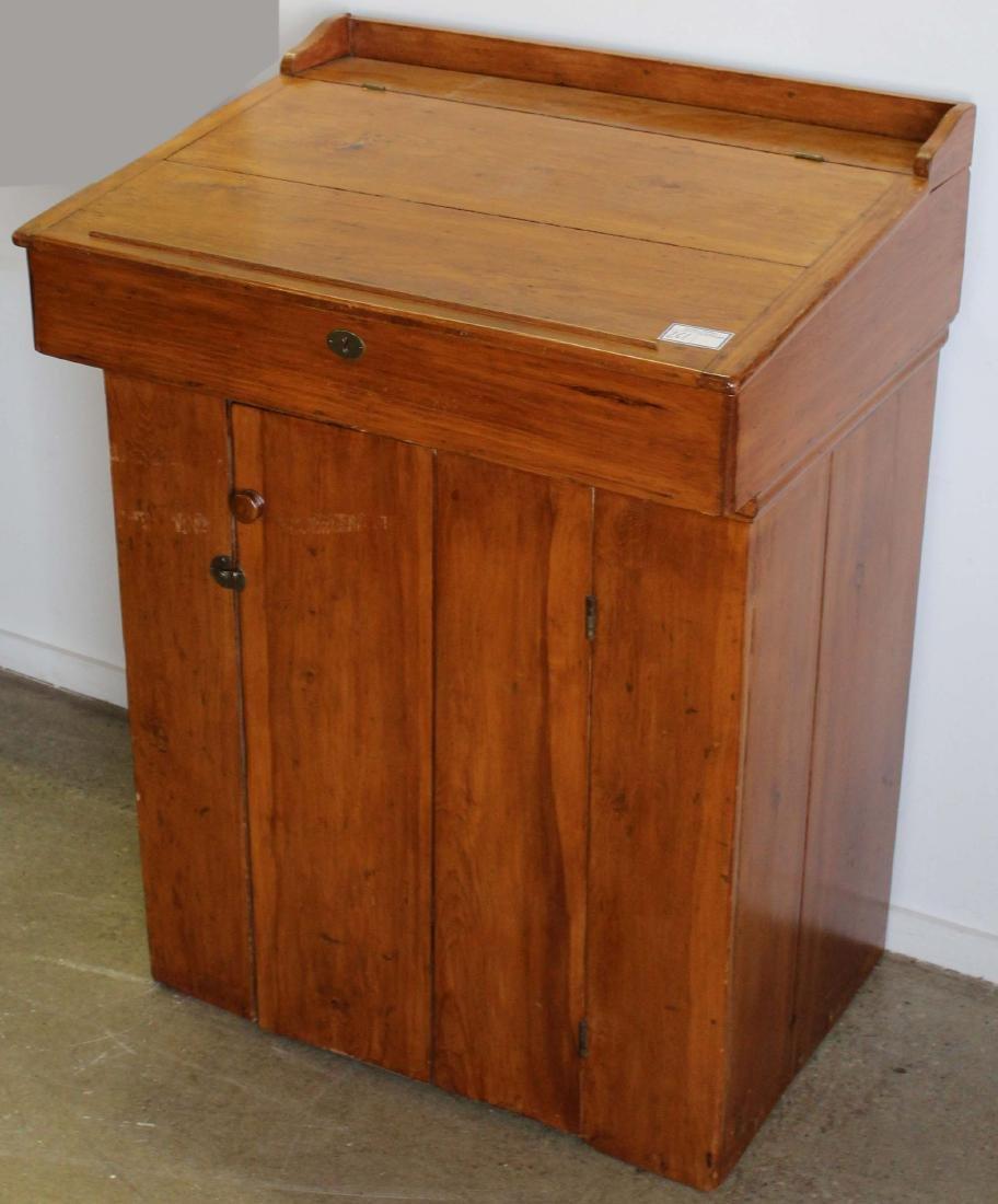 19th c pine standing clerk's desk
