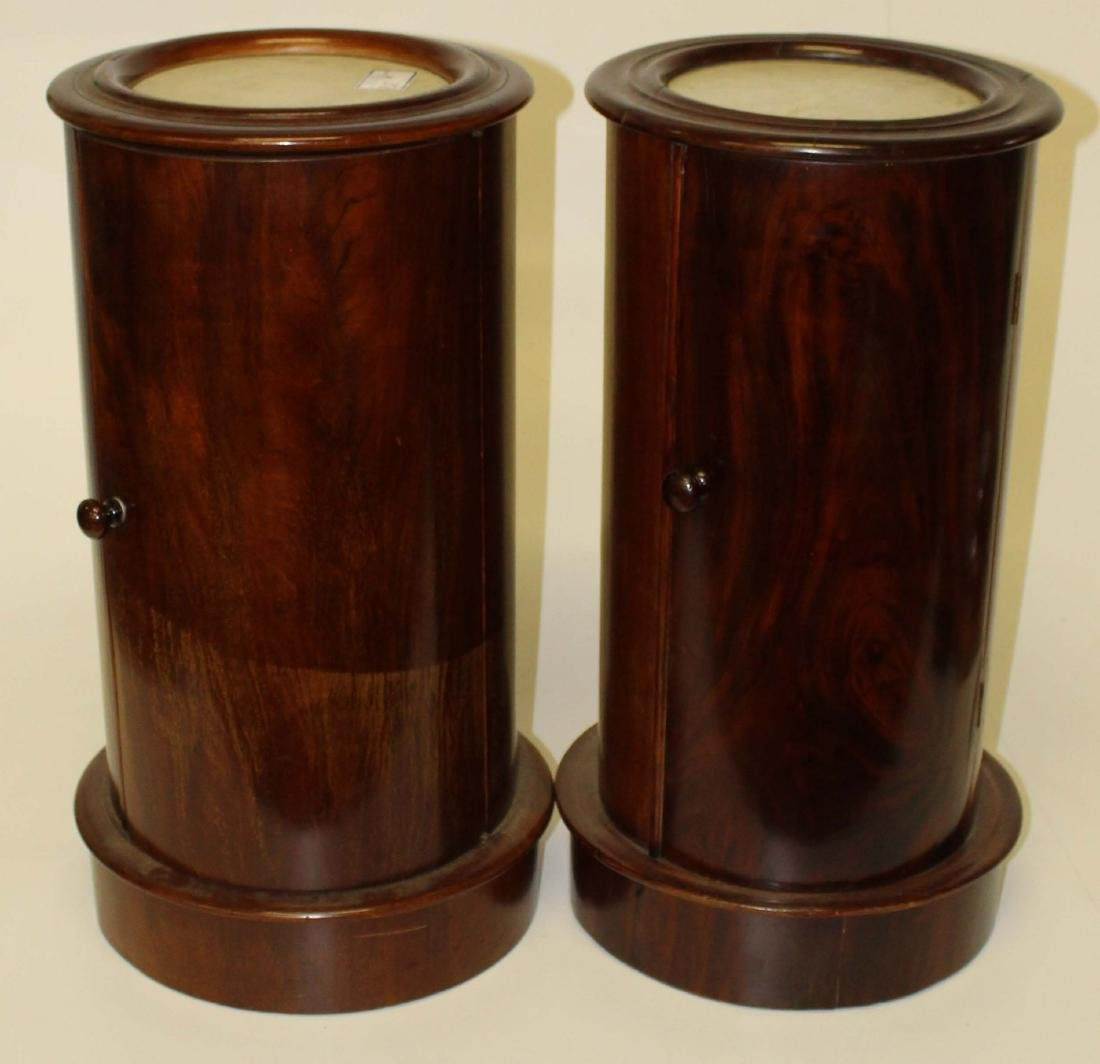 Pair of 19th c mahogany French pedestal stands