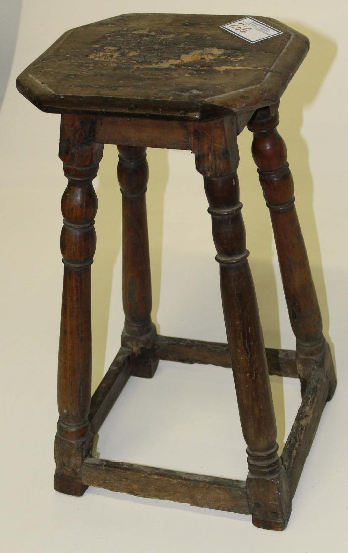 18th c English kettle stand or stool