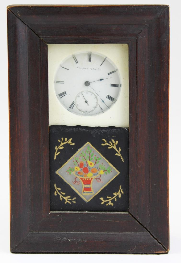 20th c watch hutch with pocket watch