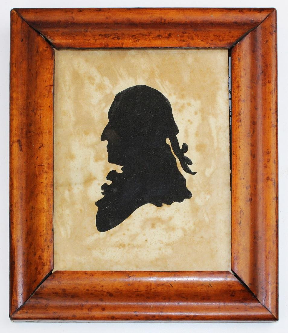 late 18th c silhouette of Gen George Washington