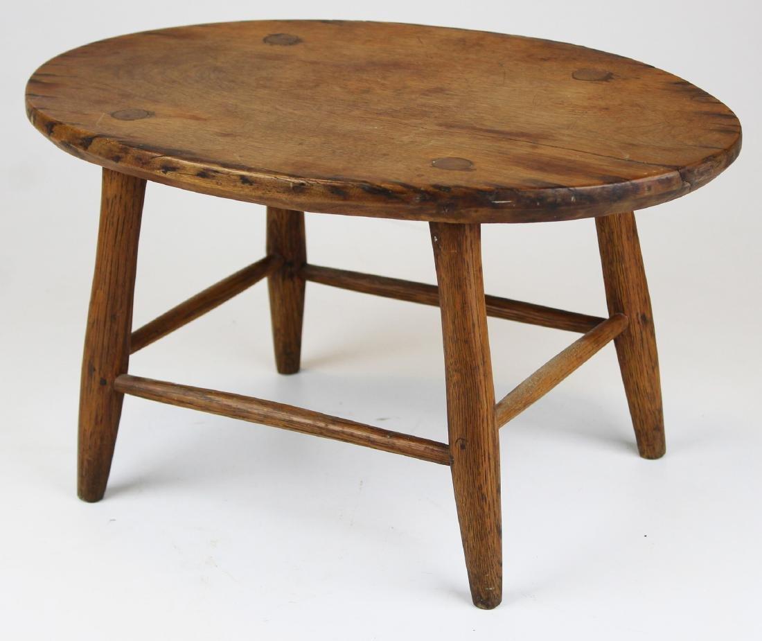 late 19th c Mt Lebanon Shaker footstool