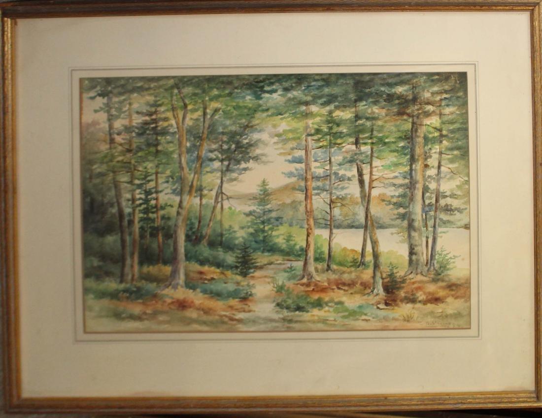 CB Stevens (19th/20th c) landscape