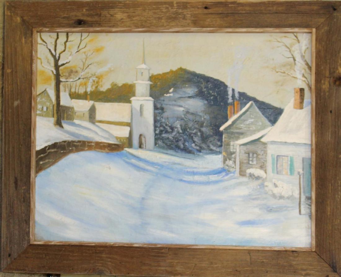 New England Winter landscape