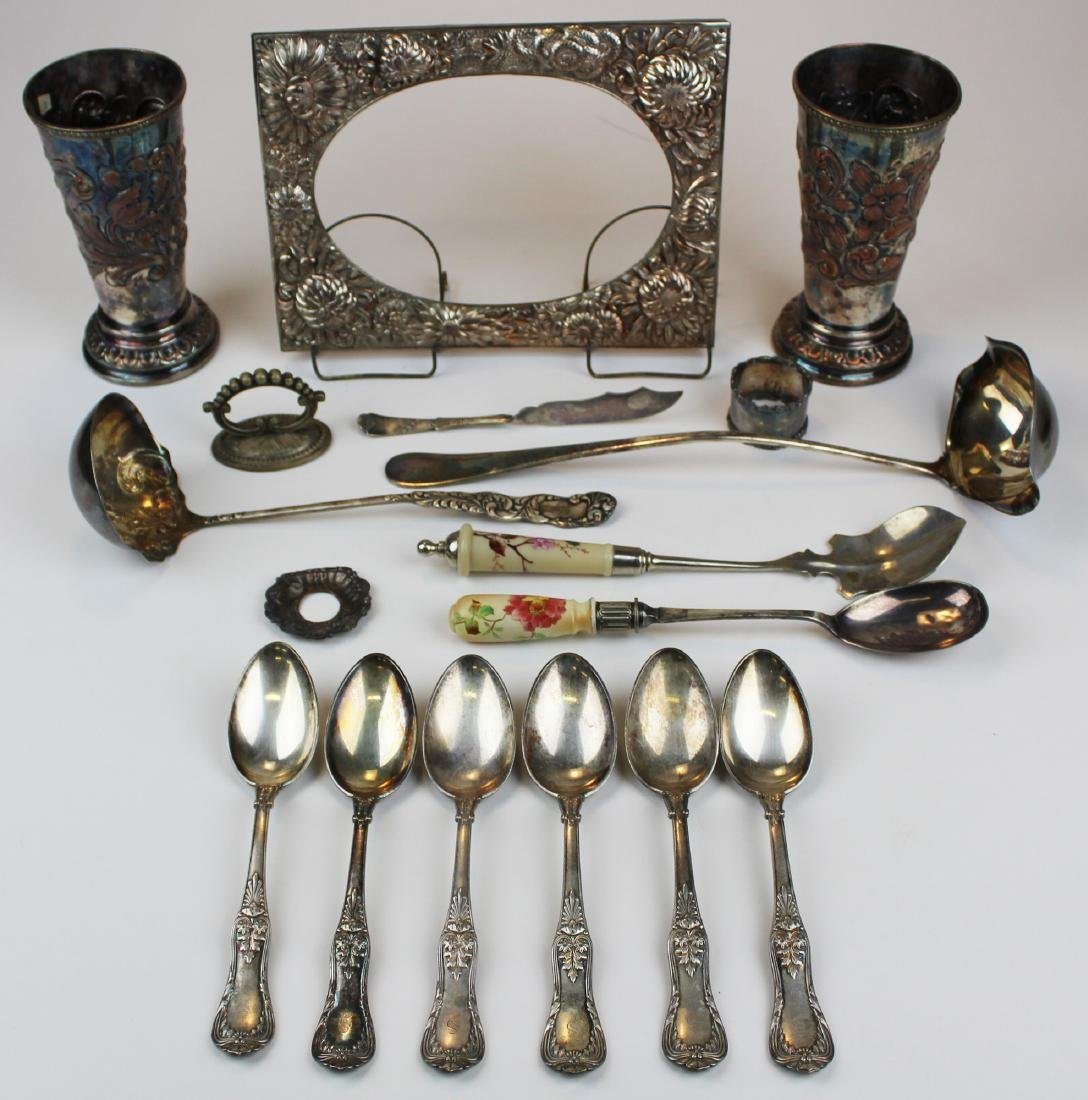 group of silver-plate including Sheffield, Tiffany