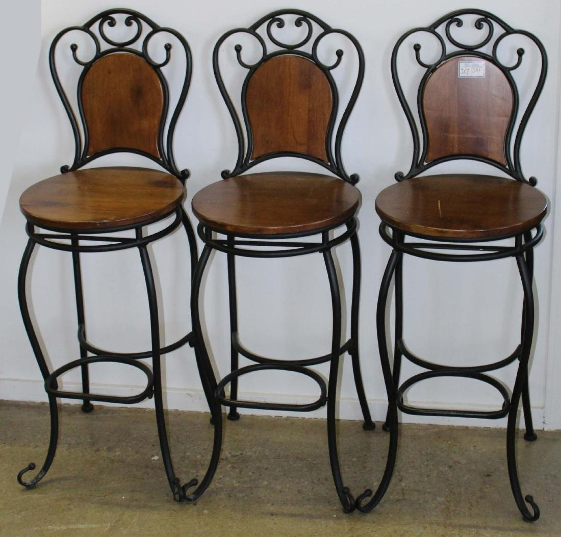 Three contemporary French style stools
