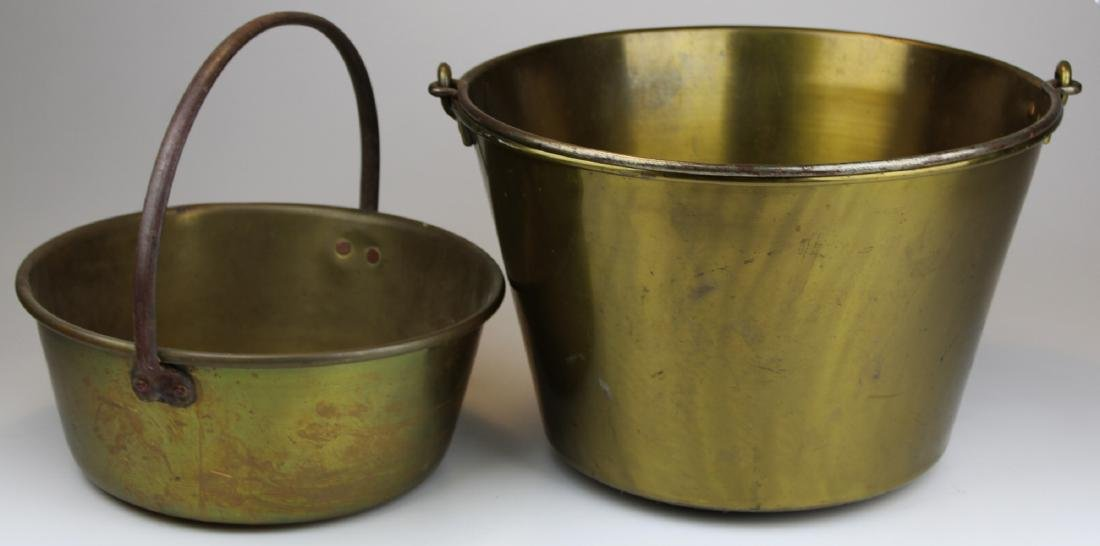 brass kettle & brass bucket