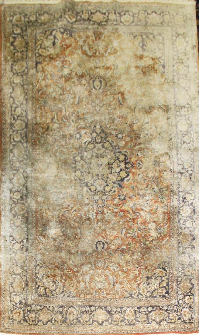 mid 20th c Persian silk area rug