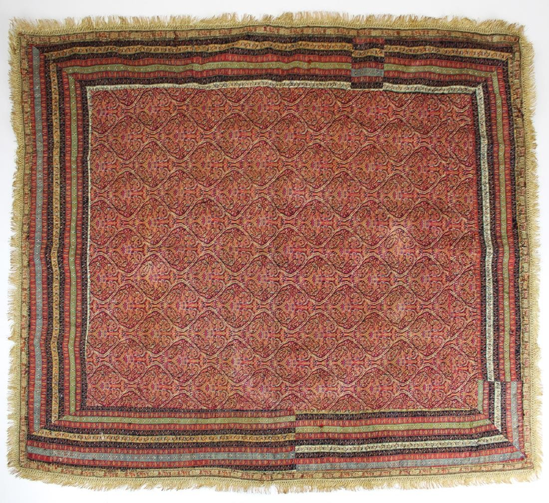 late 19th c paisley shawl table cover
