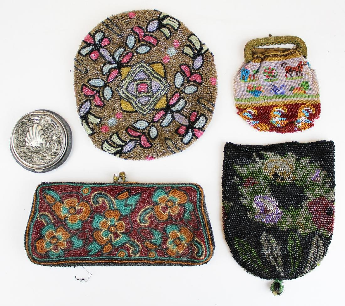4 bead decorated Victorian items