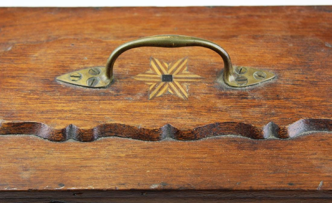 Victorian walnut inlaid doctor's box. - 2