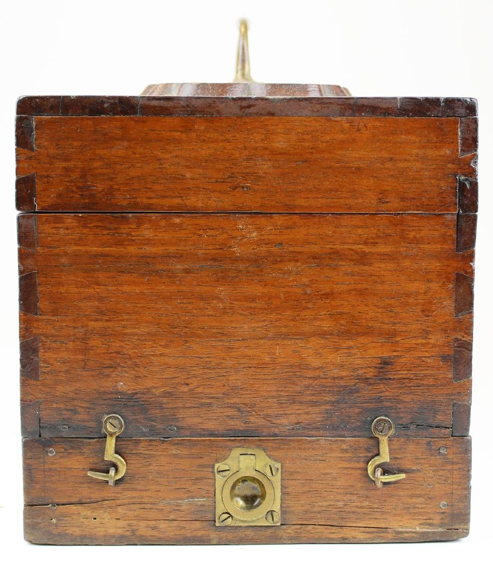Victorian walnut inlaid doctor's box. - 5