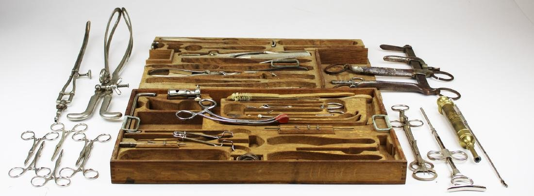 Two ca. 1900 fitted surgical instrument trays - 2