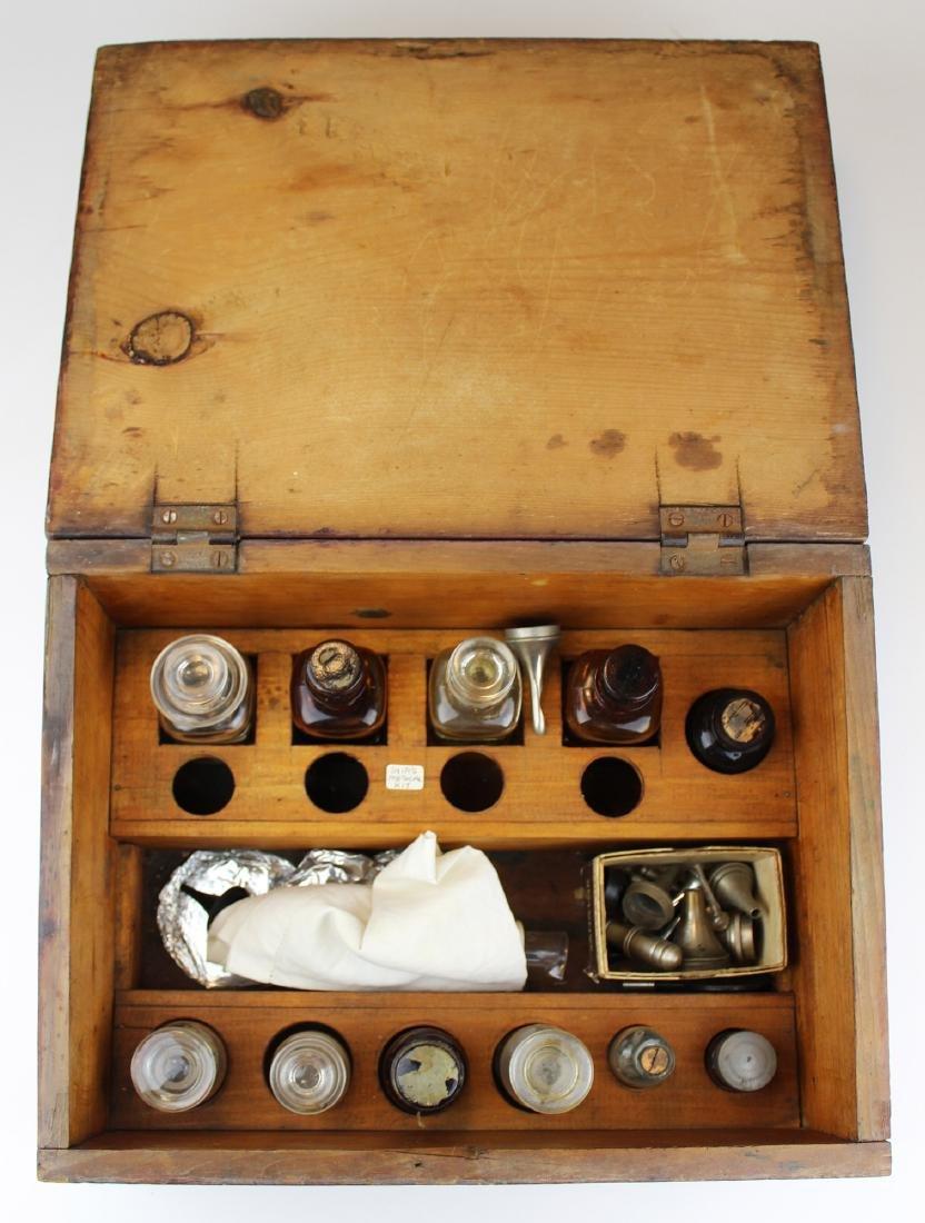 Early 19th c ship's medical kit / box
