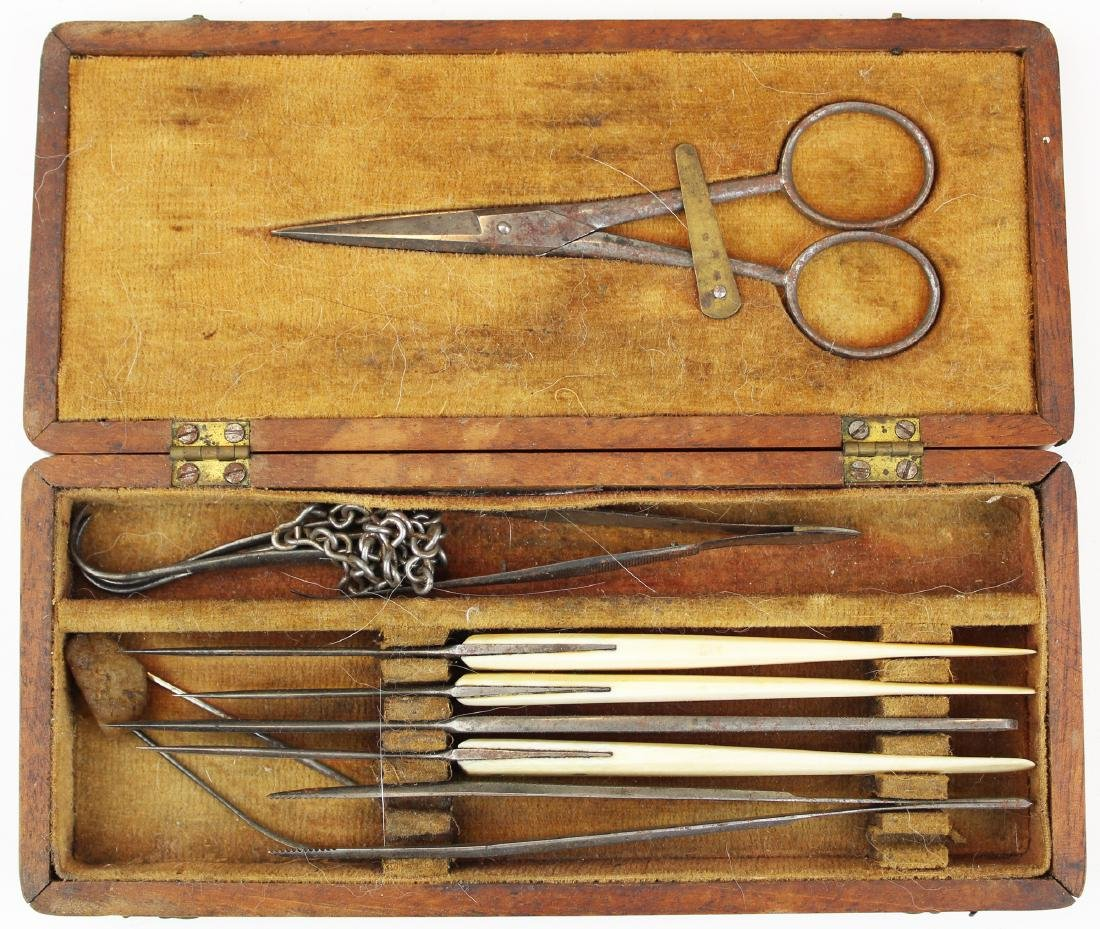 19th c field surgical kit