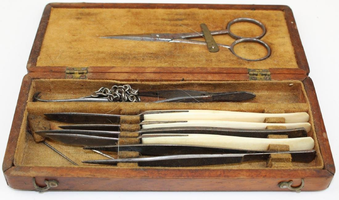 19th c field surgical kit - 2