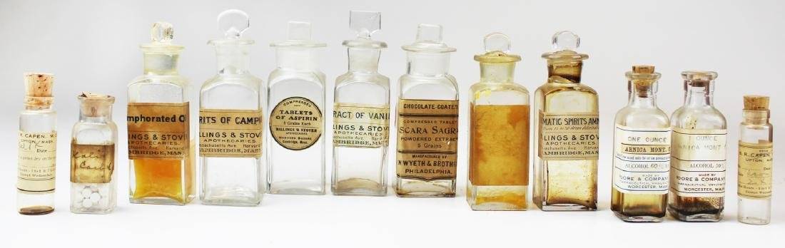 19th c walnut Pharmaceutical drug case - 2
