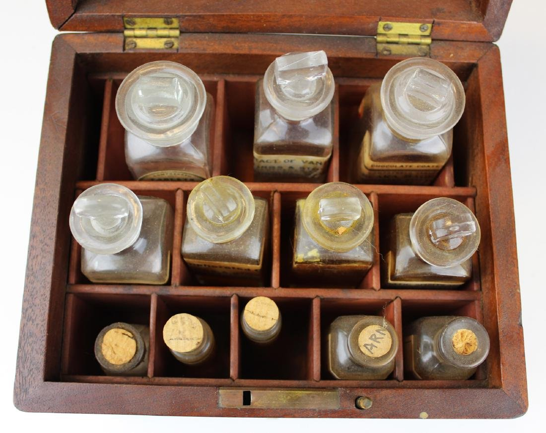 19th c walnut Pharmaceutical drug case - 3