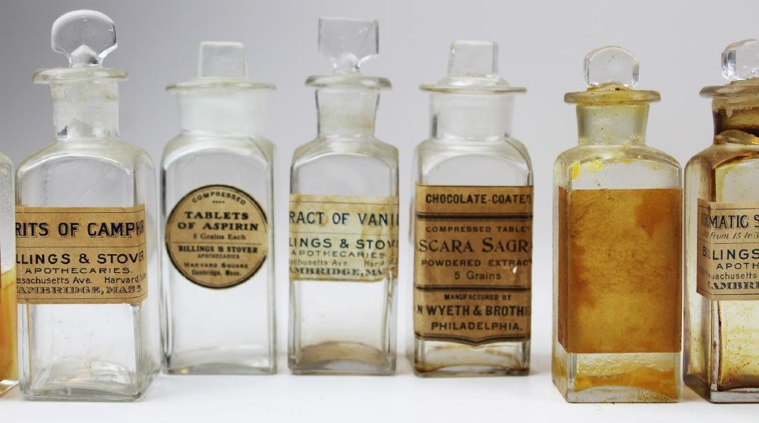19th c walnut Pharmaceutical drug case - 6