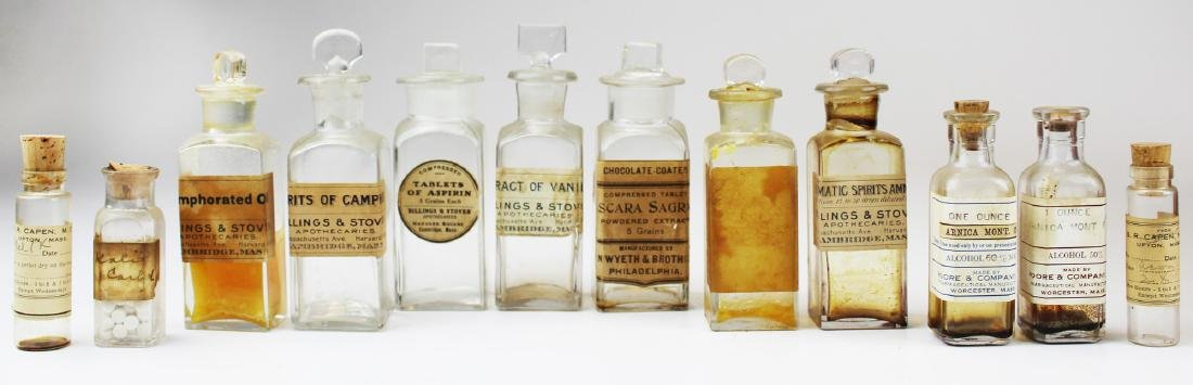 19th c walnut Pharmaceutical drug case - 9