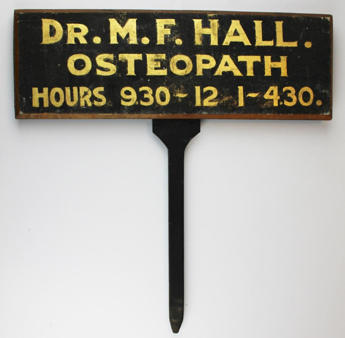 19th c Lawn sanded Doctor's sign