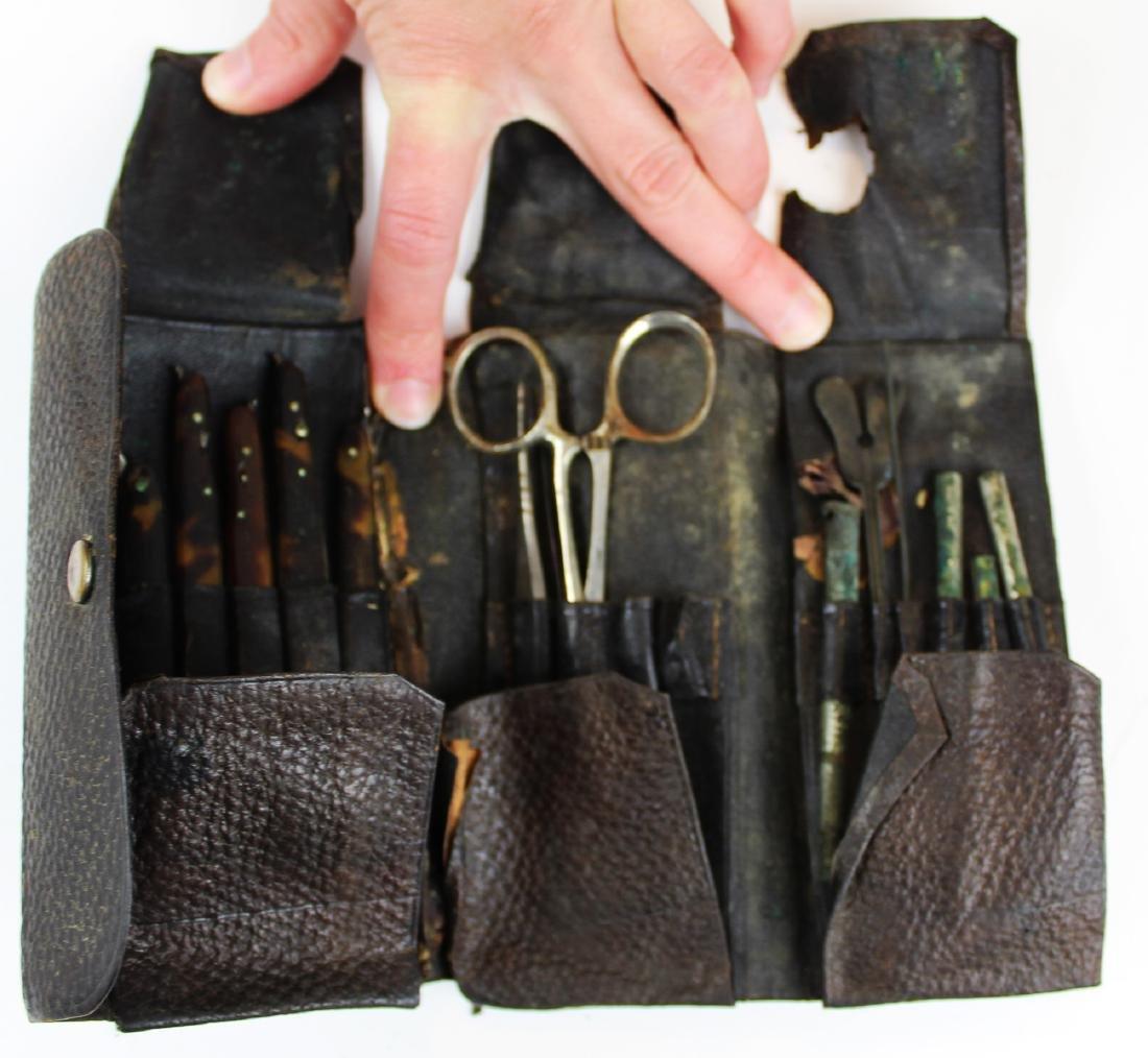 19th c folding surgical pocket kit