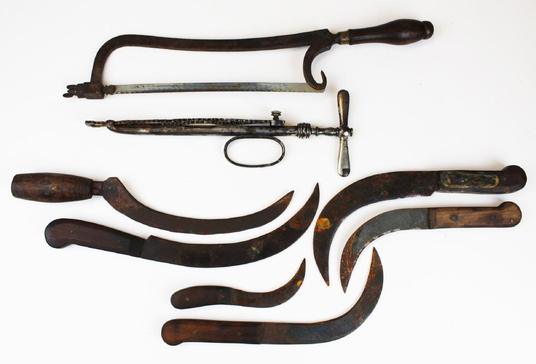 19th c surgical tools