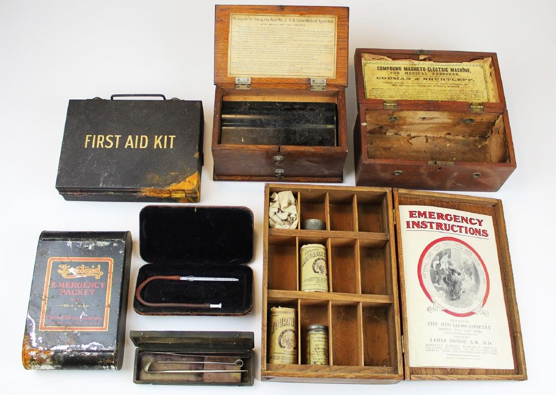 Group of First Aid kits