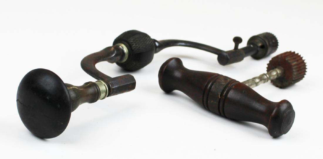 Two 19th c Trephine skull drills - 3