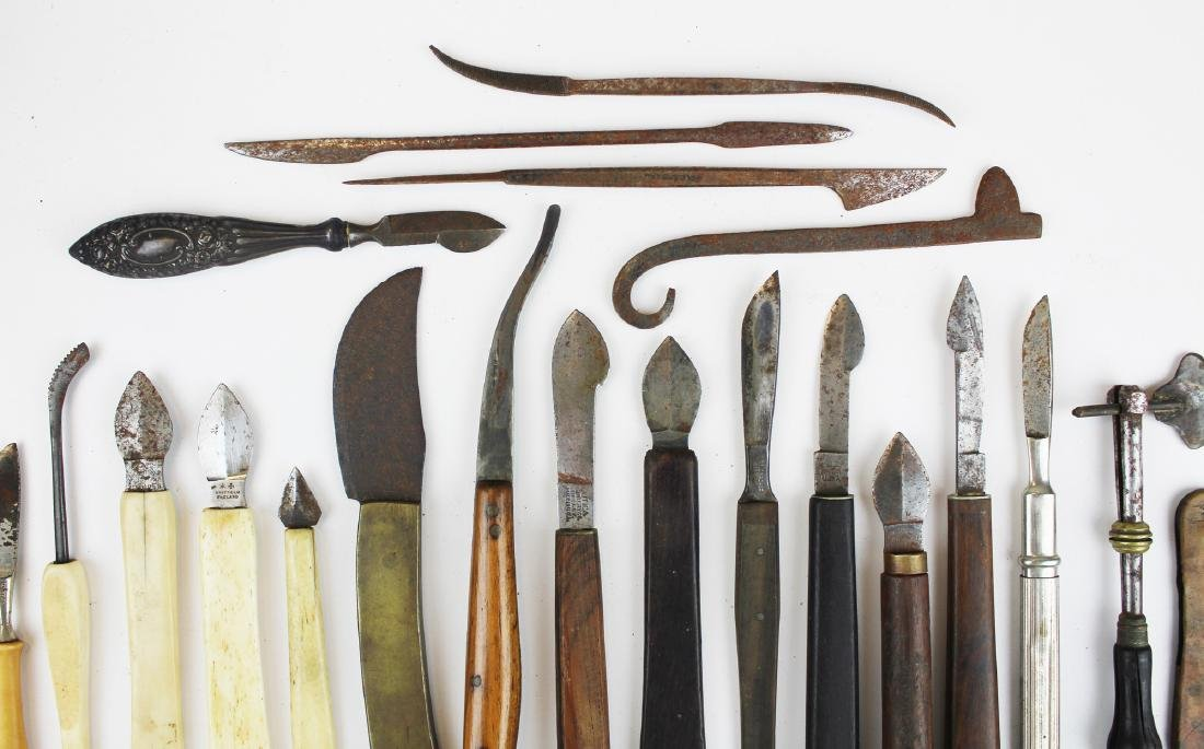 27 18th & 19th c surgical knives, razors & cutting - 3
